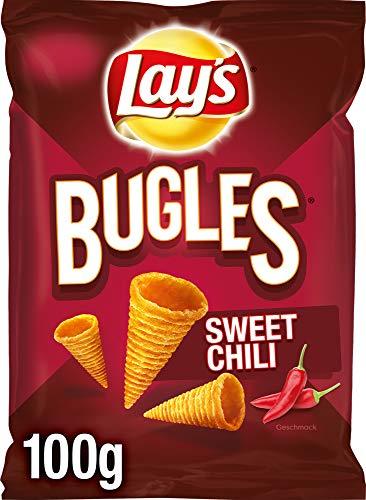 Lay's Bugles Sweet Chili – Herzhafter Mais-Snack mit süßem Chili-Geschmack – 12 x 100g