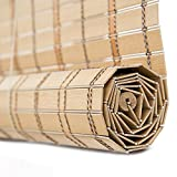 Threesome Persiana Estor De Bambú para Interiores,Persianas Romanas Retro,Aislamiento Térmico Transpirables/Naturales,Fácil De Instalar,32''X72''