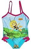 alles-meine.de GmbH Badeanzug mit Rüschen -  die kleine Biene Maja  - Größe 1 bis 2 Jahre - Gr. 86 bis 92 - für Mädchen Kinder - Rüschchen - Bienen Willi Honig Tiere / Blumen R..