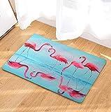 OPLJ Tapis de Sol Flamingo imprimé Tapis de Salle de Bain Tapis de Toilette Tapis de Cuisine décoration de la Maison Salon Tapis de Porte A6 50x80 cm
