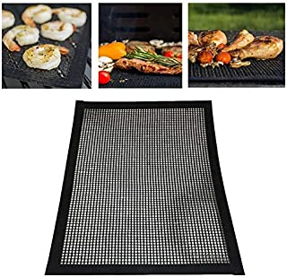 LUZAISHENG Barbecue Heat Resistant Non-Stick Grilling Mesh BBQ Baking Mat, Size: 40 x 30cm Kitchen Tools