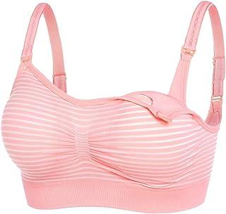 Sentao Pregnant Women Without Steel Ring Front Button Breastfeeding Bra Adjustable Anti-Sagging Gather Bra Underwear