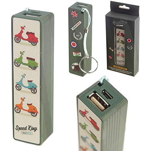 Puckator Handy Portable Usb Power Bank - Scooter Design-Char10