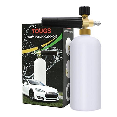 Foam Cannon, Wash Pressure Washer Jet Wash, TOUGS 1/4' Quick Release Adjustable Car Snow Foam Lance Foam Blaster