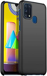 For Samsung Galaxy M31 Matte Silky Hard Shell All-Inclusive Anti-Fall Mobile Phone Case Cover - Black