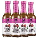 Tessemae's Organic Balsamic Vinaigrette Dressing and Marinade, Whole30 Certified, Keto Friendly,...