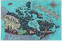TLMYDD 大人、十代の若者たち、カナダのためのジグソーパズル1000個のピンズ、カナダの地図木のジグソーパズル、クラシックな教育ゲームのおもちゃ、パズル バレンタインデープレゼント