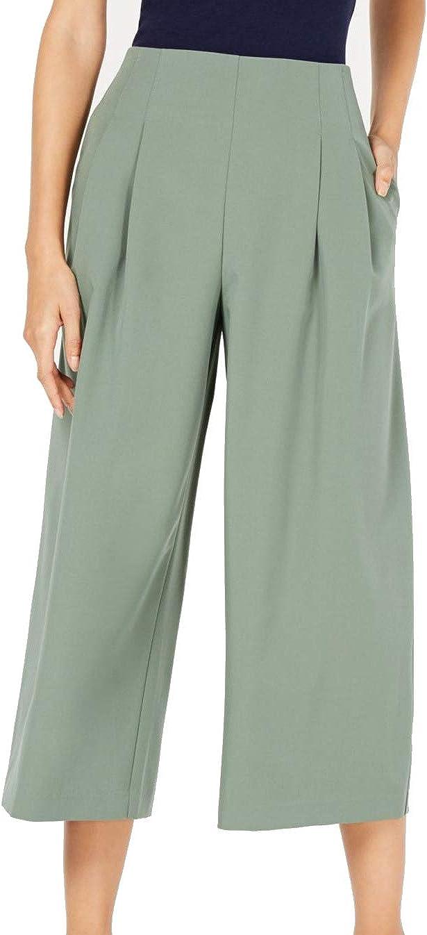 Maison Jules Womens Pleated Wide Leg Pants