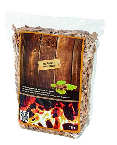 RÖSLE Räucherchips Buche, 750 g, für Räucherbox auf Smoker, Holzkohle- und Gasgrills, rauchaktiv, naturbelassenes Holz