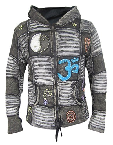 Little Kathmandu Herren-Kapuzenjacke, Gothic, Razor Cut, Pixie Gr. Large, Black, Summer (non lined)