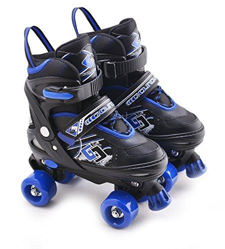 Childrens Adults Kids Boys Girls 4 Wheel Adjustable Quad Roller Skates...