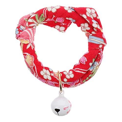 POPETPOP Adjustable Cat Collar with Small Bell Ornament Adorable Cat Neck Decoration