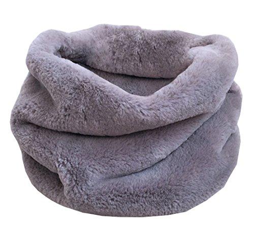 DELEY Autunno Invernali Donna Ladies Morbido Caldo Elegante Cappotto Wrap Sciarpa di Pelliccia Finta Collo Avvolgere Foulard Scarf Grigio