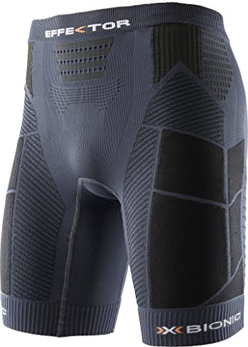 X-Bionic Herren Trail Running Man EFFEKTOR OW Pants Short Laufhose, Charcoal/Black, S
