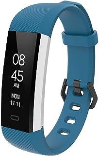 Rastreador de Ejercicios Impermeable,Reloj Pulsómetro Presión sanguínea Monitor de sueño Fitness Tracker Pantalla OLED Call SMS SNS Remind for Men Women Kids Compatible con Android iOS