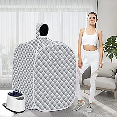 S SMAUTOP Portable Steam Sauna Spa,Full Body Spa for Weight Loss Detox Therapy, Upgrade 2.6L Lightweight Tent with Foldable Chair, Steam Generator?Gray?