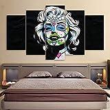 HUANGXLL Famosa Estrella Lienzo Impreso en HD Marilyn Monro PinturaCartel de laSalaDecoración de Lienzo de Calavera para Sala de Estar Dormitorio-30x40cm 30x60cm 30x80cm Sin Marco