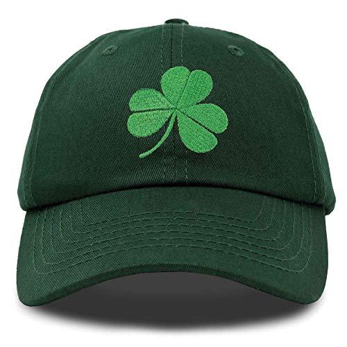 DALIX St. Patrick's Day Shamrock Hat Womens Embroidered Baseball Cap in Dark Green