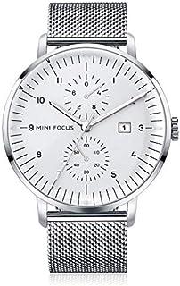 Mini Focus Mens Quartz Watch, Analog Display and Stainless Steel Strap - MF0052G.04