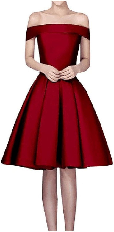 Beilite Off Shoulder Short Bridemaid Dress Closet Pom Gown