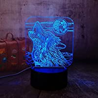 3Dアニマルナイトライトノベルティかわいい猫LED7色変更チャイルドキッドベビースリーピングデスクテーブルランプホームベッドルームの装飾クリスマスフェスティバルギフト