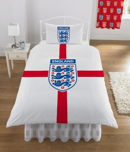 England St George Single Duvet Cover and Pillowcase Bedding Set