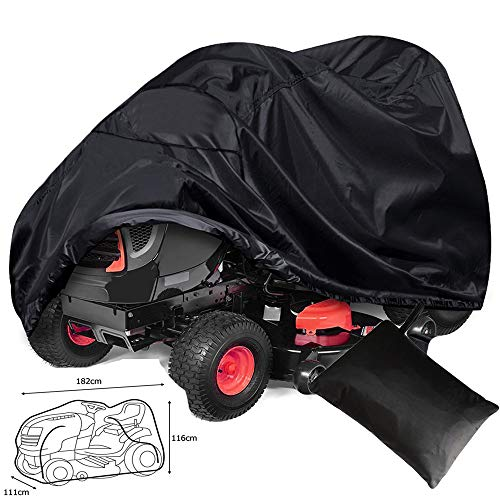 Basa beschermhoes voor tuinmeubelen, grasmaaiers, tractor, afdekking, waterdicht, voor meubels, eenvoudige bescherming tegen stof (zwart) 182*111*116CM
