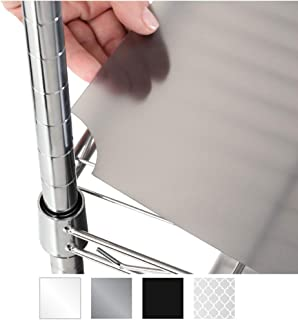 Gorilla Grip Heavy Duty Premium36 x 18 InchWire Shelf Liners, Set of 4, Value Pack, Waterproof, Plastic Liner for Wired Metal Rack Shelving and Cabinets Shelves, Kitchen, Garage, Charcoal