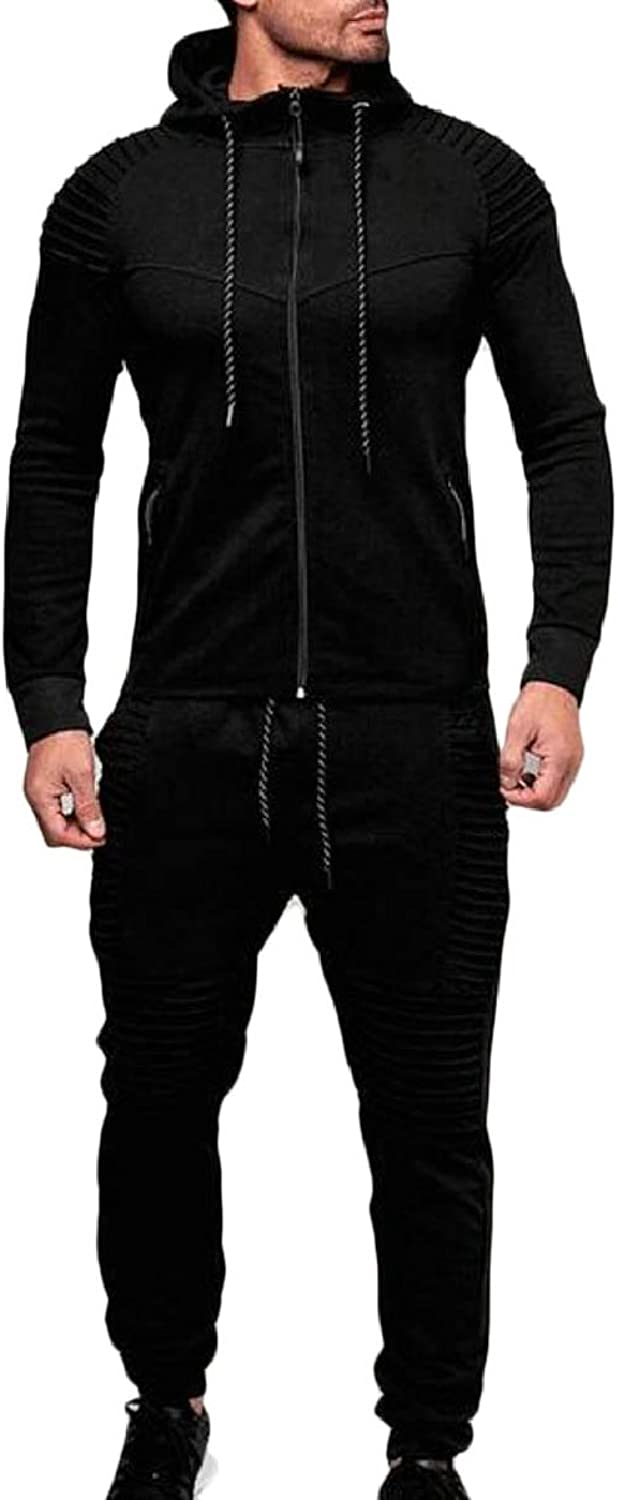 b2fd796450a LEISHOP Men's Men's Men's Tracksuit Hoodies Jacket Jogger Pants Running  Suit d5a2c4