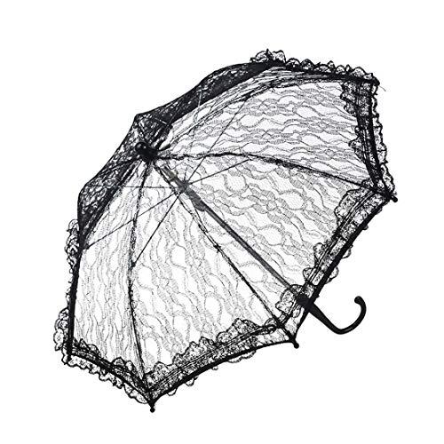 GAO-bo Sombrillas de Encaje, Boda de Disparo Boda del Parasol del cordón, Seda Shooting Parasol, a Prueba de Viento, Protección UV (Color : A)
