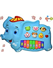 Yarie Premium Quality Elephant Piano with Light and Sound, Animal Shapes Musical Instrument, New Creative Toys & Play Games