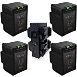Core SWX 4 Pack Nano Micro 14.8V 147Wh Lithium-Ion Battery, V-Mount GP-X4 S V-Mount Quad Charger