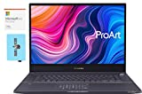 ASUS ProArt StudioBook Pro 17 W700G3T Workstation Laptop (Xeon E-2276M -Core, 64GB RAM, 2x1TB PCIe SSD RAID 0 (2TB), Quadro RTX 3000 Max-Q, Win 10 Pro) with MS 365 Personal, Hub