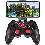 qka mobile gamepad, mapping gaming joystick trigger per pubg/regole di sopravvivenza & more ripresa di combattimento gioco di corse richiede ios 11+ android 5.0+ version,nero