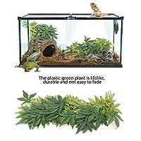 水槽飾り 水族館 人工植物 爬虫類 両生類 装飾植物 飼育ケージ飾り プラスチック製 吸盤付き安全 ジャングル生息地 ペット用 テラリウム装飾 風景の装飾 水槽装飾 お手入れが簡単 50cm