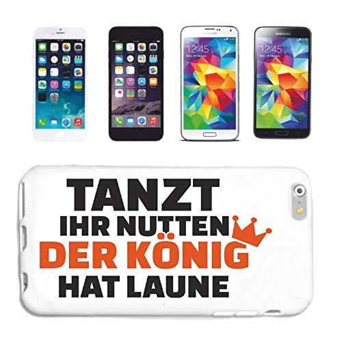 Bandenmarkt telefoonhoes compatibel met Samsung Galaxy S3 danst de snoeppen van de koning hat humeur jong geschenk leuk shirt party stemming hardcase beschermhoes Ha