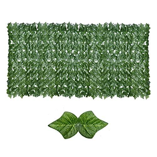 Ukuding Balkon Blätter Zäune Sichtschutz, Künstliche Efeu Garten Sichtschutz, Künstliche Green Leaf Screening Rolls Privacy Zaun Screen Hedges Für Büro, Küche, Garten