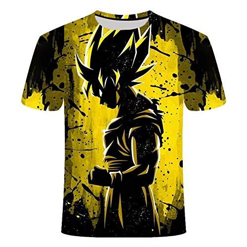 ZIXIYAWEI 3D Camisetas para Hombre,Dragon Z Cartoon Boy Pattern Unisex 3D Impreso Camiseta Verano Personalizado Casual Camisetas De Manga Corta Tops-M