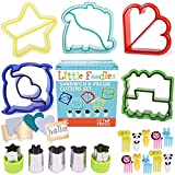 GET FRESH Sandwich Cutters for Kids – [20-pcs] Set with 5 Sandwich Shapes/Cookie Cutters/Bread Cutters – Comes with 5 Vegetable Cutters and Bonus 10 Bento Decorations