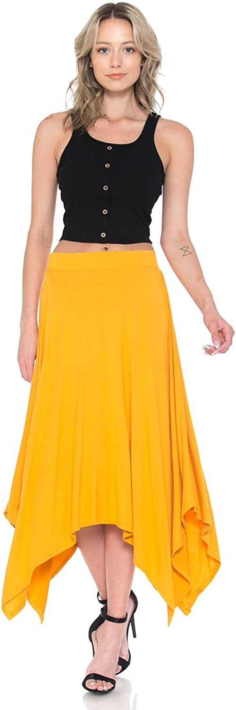 iconic luxe Women's Asymmetric Hem Skirt