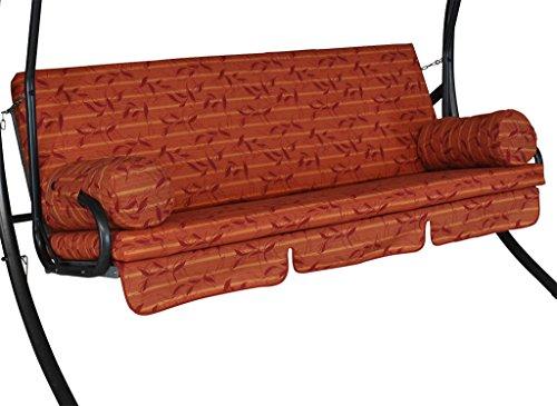 Angerer Trend Schaukelauflage 3-Sitzig Design Marbella, terracotta, 178 x 56 x 56 cm, 2022/214