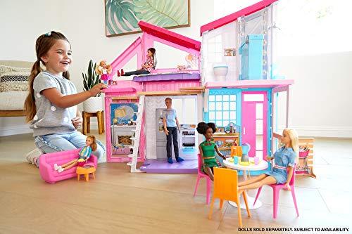 Barbie Casa Malibu, casa de muñecas de dos pisos plegable