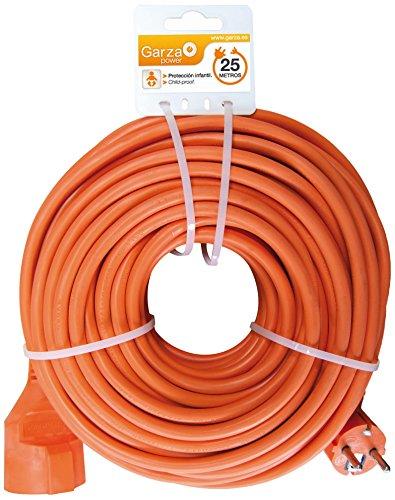Garza ® - Cable alargador de corriente para jardín de 25 metros,...