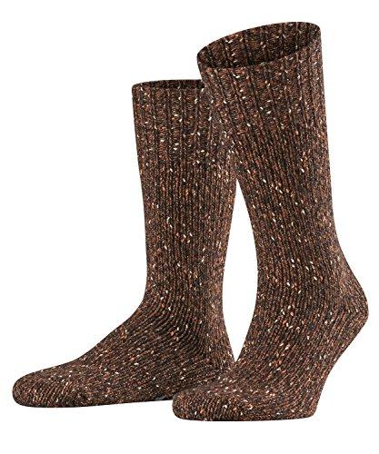 FALKE Herren Socken Earth, Baumwolle/Wollmischung, 1 Paar, Braun (Cappucino 5520), Größe: 43-46