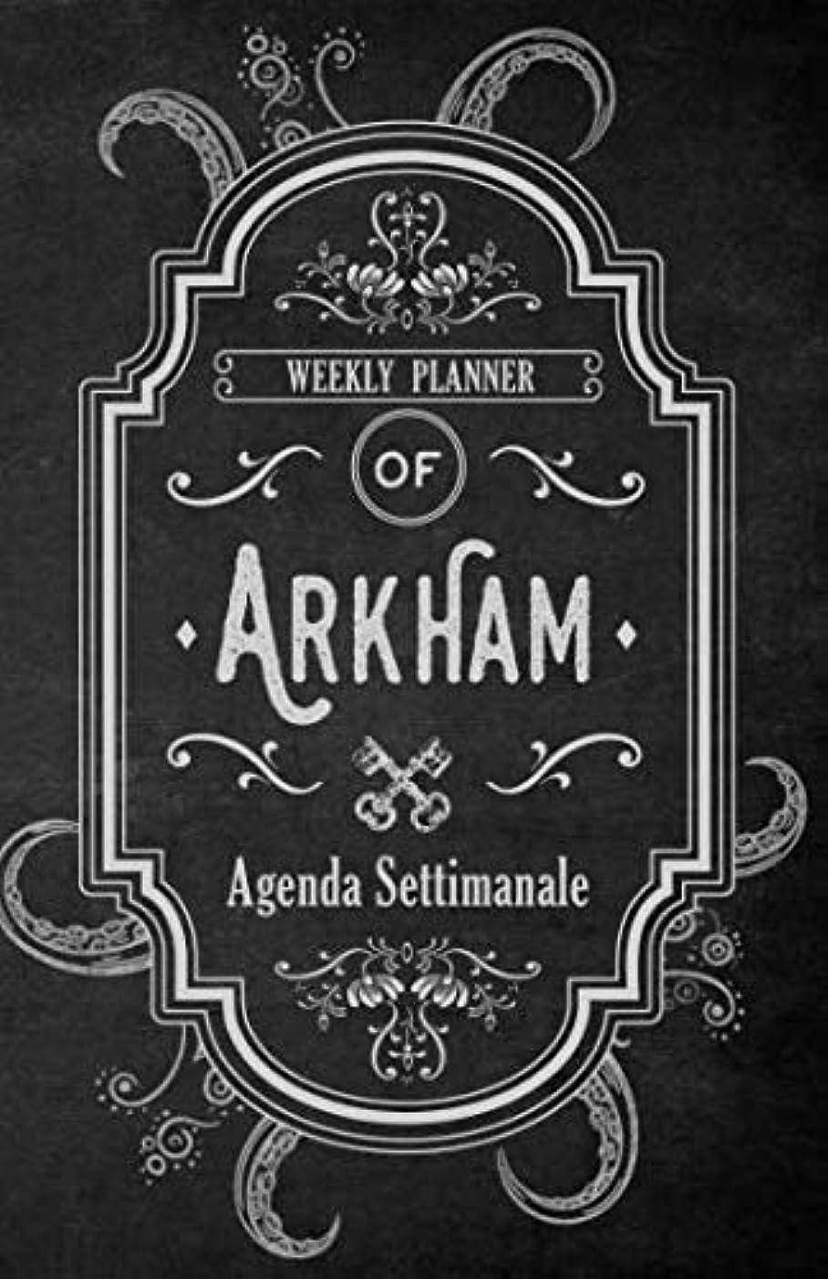 ベルト職業戦争Arkham Agenda Settimanale: Weekly Planner in italiano, life organizer da borsa, 12 mesi, 54 settimane (Agenda Planner settimanale perpetua senza data)