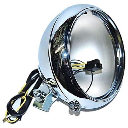 """7/"""" Chrome Bottom Mount Headlight Housing Headlamp Light Bulb Bucket For Harley"""