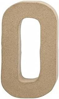 Large 202mm Paper Mache Letter O   Paper Mache Shapes   Papier Mache