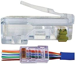 UbiGear 100 Pcs Pass Through CAT5e RJ45 Network Cable Modular Plug 8P8C Connector End