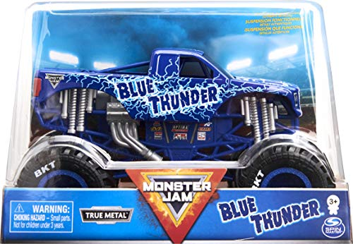 Monster Jam Offizieller Blue Thunder Monster Truck, Sammler Die-Cast Vehicle, Maßstab 1:24