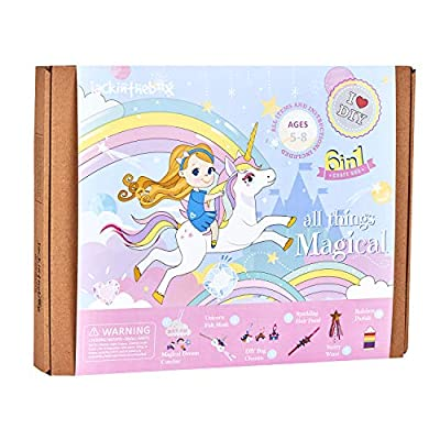 Unicorn Themed Art and Craft Kit for Girls | 6 Chunky Craft Projects | Best Gift for Girls Ages 5 6 7 8 9 10 Years